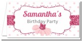 Ballerina - Personalized Birthday Party Place Cards