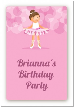 Ballet Dancer - Custom Large Rectangle Birthday Party Sticker/Labels
