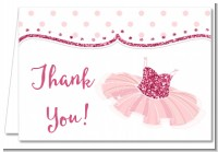 Ballerina - Birthday Party Thank You Cards