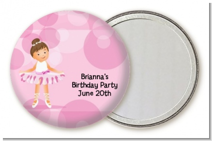 Ballet Dancer - Personalized Birthday Party Pocket Mirror Favors