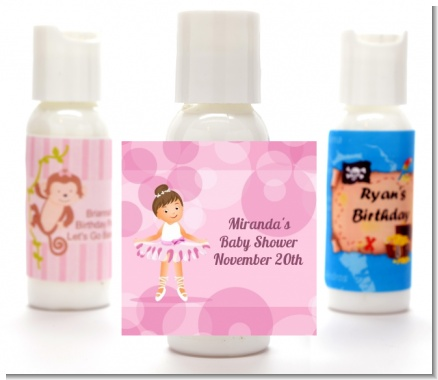Ballet Dancer - Personalized Birthday Party Lotion Favors