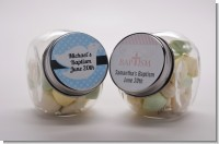Custom Christening Candy Jars