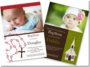 Baptism Photo Invitations