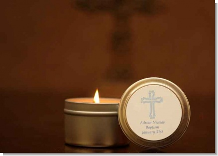 Candle Tins Large Soy Travel Size Baptism Favors & Christening Favors