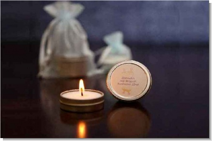 Candle Tins Small Soy Travel Size - Bar / Bat Mitzvah Favors