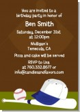 Baseball - Birthday Party Invitations