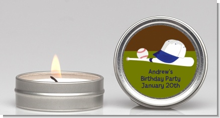 Baseball - Birthday Party Candle Favors