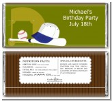 Baseball - Personalized Birthday Party Candy Bar Wrappers