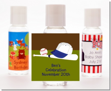 Baseball - Personalized Birthday Party Hand Sanitizers Favors