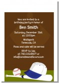 Baseball - Birthday Party Petite Invitations