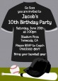 Baseball Jersey Black and White - Birthday Party Invitations thumbnail