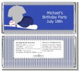 Baseball Jersey Blue and Grey - Personalized Birthday Party Candy Bar Wrappers thumbnail