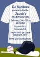 Baseball Jersey Blue and White Stripes - Birthday Party Invitations thumbnail
