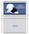 Baseball Jersey Blue and White Stripes - Personalized Popcorn Wrapper Birthday Party Favors thumbnail