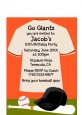 Baseball Jersey Orange and Black - Birthday Party Petite Invitations thumbnail