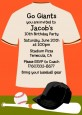 Baseball Jersey Orange and Black - Birthday Party Invitations thumbnail