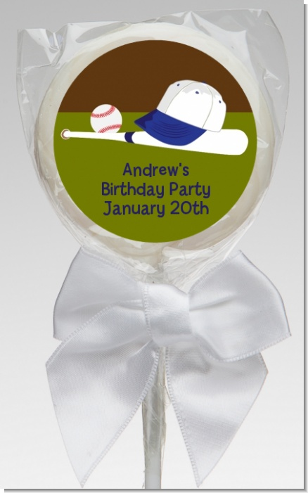 Baseball - Personalized Birthday Party Lollipop Favors