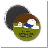 Baseball - Personalized Birthday Party Magnet Favors