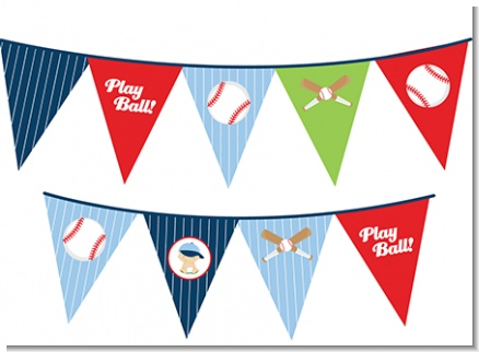 Future Baseball Player - Baby Shower Themed Pennant Set