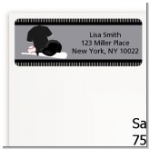 Baseball Jersey Black and White - Birthday Party Return Address Labels