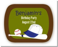 Baseball - Personalized Birthday Party Rounded Corner Stickers
