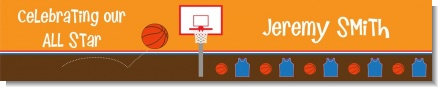 Basketball - Personalized Birthday Party Banners