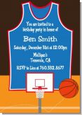 Basketball - Birthday Party Invitations