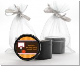 Basketball - Birthday Party Black Candle Tin Favors