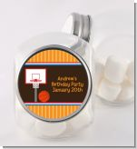 Basketball - Personalized Birthday Party Candy Jar