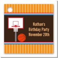 Basketball - Personalized Birthday Party Card Stock Favor Tags