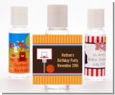 Basketball - Personalized Birthday Party Hand Sanitizers Favors
