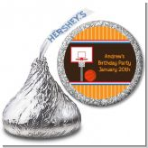 Basketball - Hershey Kiss Birthday Party Sticker Labels