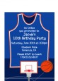 Basketball Jersey Blue and Orange - Birthday Party Petite Invitations thumbnail