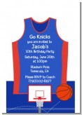 Basketball Jersey Blue and Red - Birthday Party Petite Invitations
