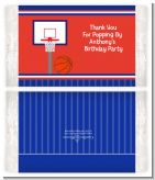 Basketball Jersey Blue and Red - Personalized Popcorn Wrapper Birthday Party Favors
