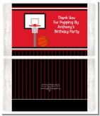 Basketball Jersey Red and Black - Personalized Popcorn Wrapper Birthday Party Favors