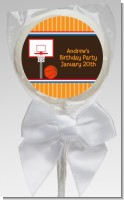 Basketball - Personalized Birthday Party Lollipop Favors