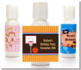 Basketball - Personalized Birthday Party Lotion Favors