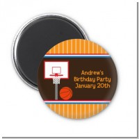 Basketball - Personalized Birthday Party Magnet Favors