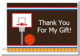 Basketball - Birthday Party Thank You Cards