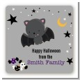 Bat - Square Personalized Halloween Sticker Labels thumbnail
