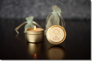 Candle Tins Mini Soy Travel Size - Bar / Bat Mitzvah Favors