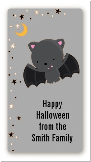 Bat - Custom Rectangle Halloween Sticker/Labels