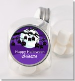 Bats On A Branch - Personalized Halloween Candy Jar