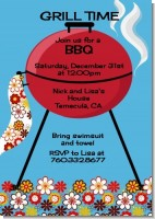 BBQ Grill - Birthday Party Invitations