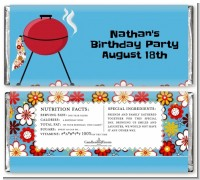 BBQ Grill - Personalized Birthday Party Candy Bar Wrappers
