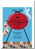 BBQ Grill - Birthday Party Petite Invitations