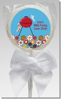 BBQ Grill - Personalized Birthday Party Lollipop Favors