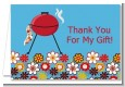 BBQ Grill - Birthday Party Thank You Cards thumbnail