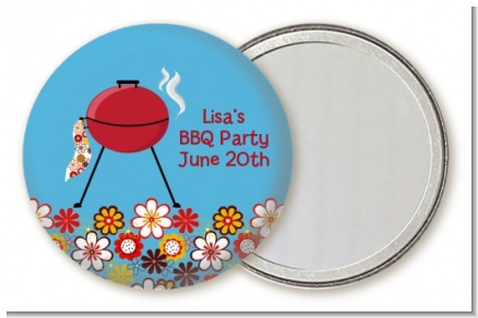 BBQ Grill - Personalized Birthday Party Pocket Mirror Favors